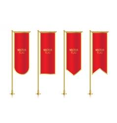 Red vertical banner flag templates vector