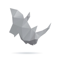 Rhinoceros head abstract isolated on a white vector image vector image