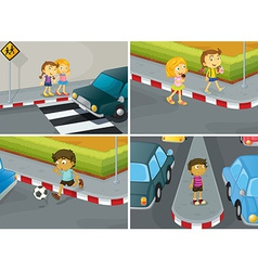 Road safety vector