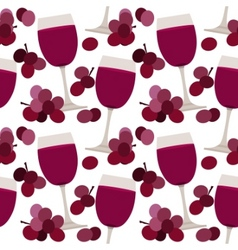 seamless pattern with wine glasses vector image