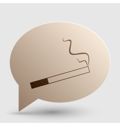Smoke icon great for any use Brown gradient icon vector image vector image