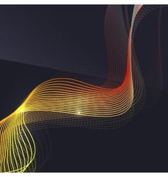 Smoke wave on dark background vector