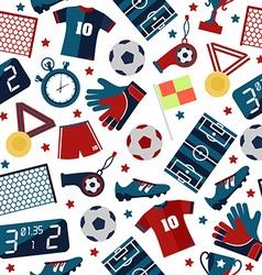 Sport football pattern vector image