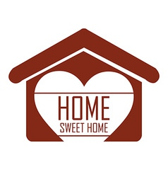 Sweet home design Royalty Free Vector Image - VectorStock