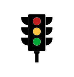 Traffic light signal vector