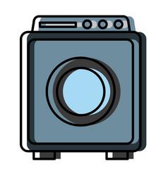 washer machine symbol vector image vector image