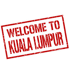 Welcome to kuala lumpur stamp vector
