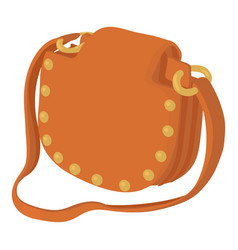 Woman handbag icon cartoon style vector