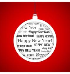 Happy New Year ball vector image