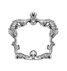 Imperial baroque mirror frame french vector