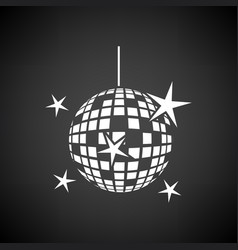 Night clubs disco sphere icon vector