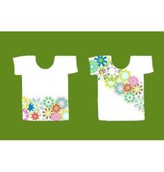 Floral design on white t-shirt vector image