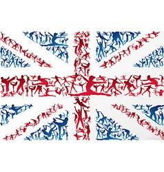 Sports silhouettes uk flag vector