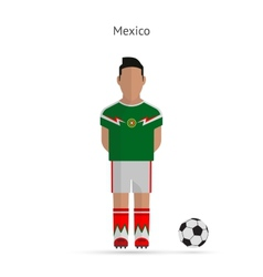 National football player mexico soccer team vector