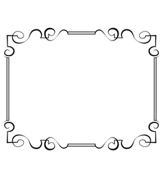 Black frame on a white background vector