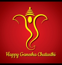 Creative ganesh chaturthi festival greeting card b vector