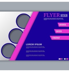 Background concept for horizontal flyer vector