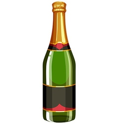 Champagne bottle with lid on vector