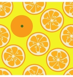 Cute seamless pattern with orange slices vector