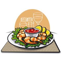 shrimp cocktail vector image