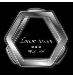 Abstract metal shape logo design vector