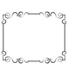 black frame on a white background vector image vector image