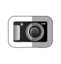 Black technologic digital camera icon vector