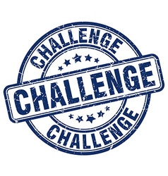 Challenge blue grunge round vintage rubber stamp vector