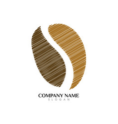 coffee logo template vector image vector image