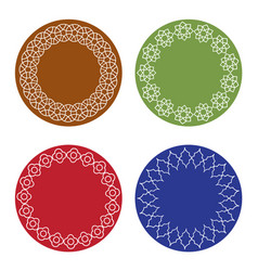 Colorful moroccan frames set vector