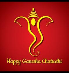 Creative ganesh chaturthi festival greeting card b vector