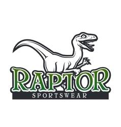 Dino Logo template Raptor sport mascot vector image vector image