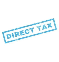 Direct tax rubber stamp vector