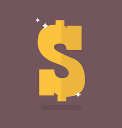 dollar icon sign vector image
