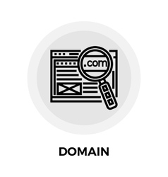 Domain line icon vector