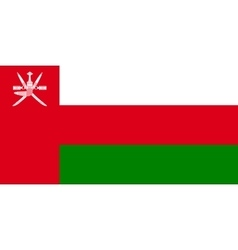 Flag of oman in correct size and colors vector