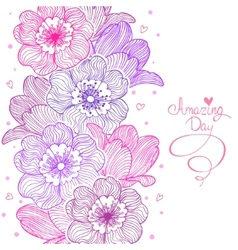 flowers stripe design vector image