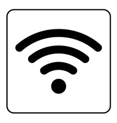 free wi-fi icon vector image vector image