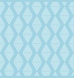 Geometric triangle blue seamless pattern vector