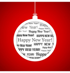 Happy New Year ball vector image vector image
