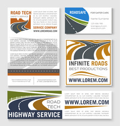 highway road construction banner template vector image