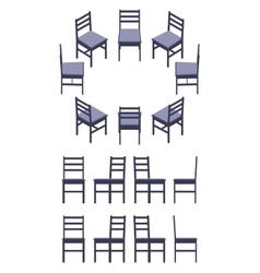 Isometric black chair vector image vector image