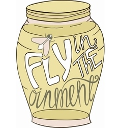 Jar in doodle style sketch with inspiration vector