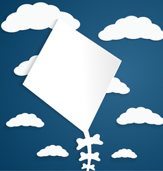Kite on a blue background with clouds vector image