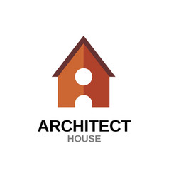 letter a house concept building with door vector image vector image