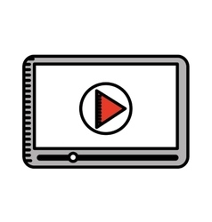 media player isolated icon design vector image