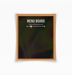 Menu black board empty chalkboard blank vector