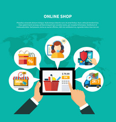 Online shop composition vector