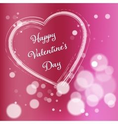 Pink Valentine Day Postcard vector image