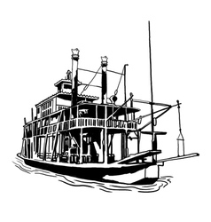 River steamboat vector
